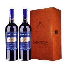 路易拉菲2007侯爵古堡干红葡萄酒红酒礼盒装750ml*2