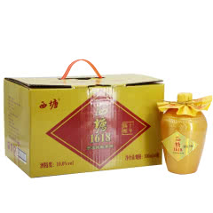 嘉善黄酒西塘1618陈酿十年 500ml*6瓶整箱价半干型