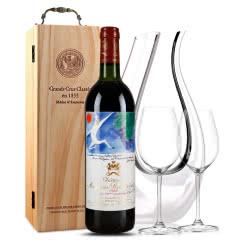 法国原瓶进口红酒 木桐(武当皇)古堡干红葡萄酒 一级庄 1982年 木桐正牌  750ml