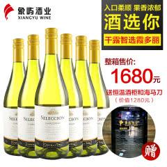 干露酒庄 智选霞多丽干白葡萄酒750ml*6 智利原瓶进口