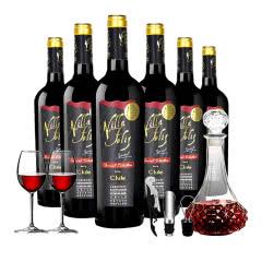 智利原瓶进口红酒幸福庄园特选赤霞珠干红葡萄酒750ml*6瓶整箱
