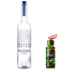 40°波兰(BELVEDERE VODKA)雪树伏特加原味进口洋酒烈酒700ml