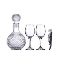 【酒具大礼包】欧式醒酒器*1+葡萄酒杯*2+海马刀*1
