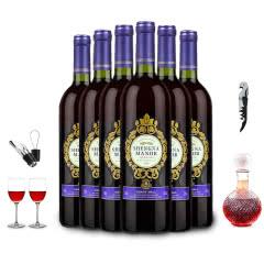 盛纳古堡2014王爵赤霞珠干红葡萄酒750ml*6(酒具套装)