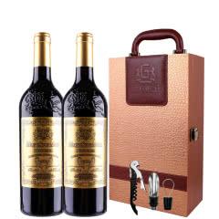法国原瓶原装进口红酒波尔多法定产区AOP级浮雕款玛歌干红葡萄酒750ml*2(礼盒装)