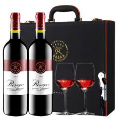 拉菲红酒法国原瓶进口珍藏波尔多干红葡萄酒红酒礼盒装750ml*2