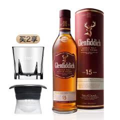 40°格兰菲迪15年单一麦芽威士忌700mL