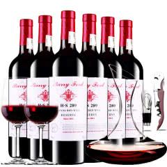 奔富皇家干红葡萄酒H·S289红酒整箱醒酒器装750ml*6