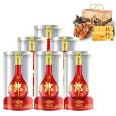 53°郎酒·红花郎十五(15)500ml*6+阳澄湖 庄基角大闸蟹