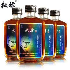 权禄42°大哥酒人参枸杞酒男士酒保健酒100ml (4瓶装)