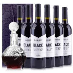 澳大利亚原瓶进口兰伯特黑绵羊赤霞珠干红葡萄酒750ml*6