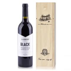 澳大利亚原瓶进口兰伯特黑绵羊赤霞珠干红葡萄酒750ml木箱装