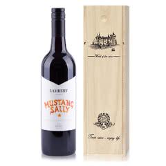 澳大利亚原瓶进口兰伯特野马莎莉设拉子干红葡萄酒750ml木箱装
