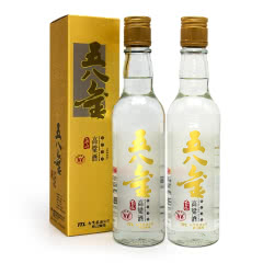 【2011年老酒】58°台湾玉山高粱酒 五八金清香型高度白酒300ml两瓶装