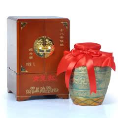 绍兴黄酒 女儿红十八年陈酿花雕酒1L 糯米酒 手工坛装