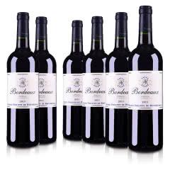 法国菲利普罗斯柴尔德男爵波尔多红葡萄酒750ml(6瓶装)
