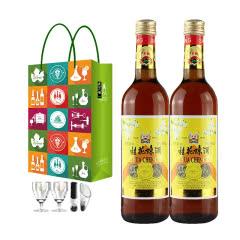 丰收桂花陈酒 甜酒红葡萄酒 500ML*2瓶