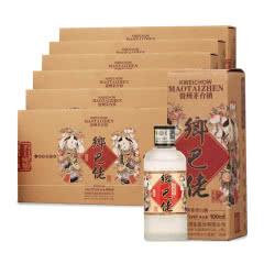 53°黔酒乡巴佬-贵州风物酱香型白酒100ml*30瓶 整箱装