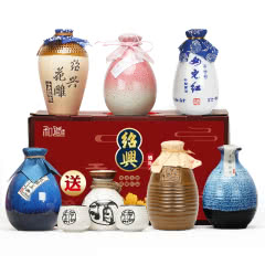 【送酒具】绍兴黄酒六瓶不同风味组合礼盒古越龙山女儿红花雕酒