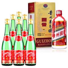 55°西凤酒绿瓶500ml(裸瓶)(6瓶装)+53°贵州茅台镇国酱酒500ml