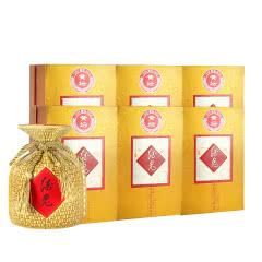 52°酒鬼酒黄坛献礼版婚宴礼盒收藏白酒500ml*6瓶装