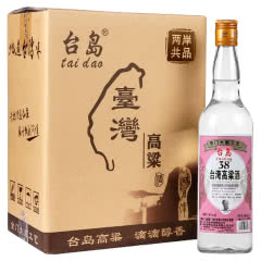台湾高粱酒38度600ml【6瓶整箱】台岛金门浓香型 粮食酒 低度白酒