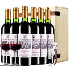 法国进口红酒黎明骑士酿酒师波尔多AOC级干红葡萄酒红酒整箱装750ml*6