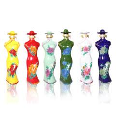 52°杜康村六彩牡丹牡丹仙子旗袍浓香型白酒500ml*6瓶   整箱装