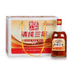 绍兴黄酒古越龙山清纯三年500ml*6瓶整箱装花雕酒糯米酒