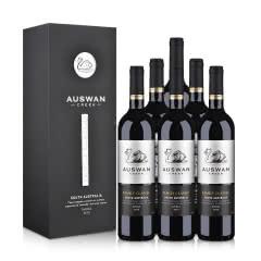 澳洲红酒天鹅庄家族经典西拉干红葡萄酒黑色单支礼盒750ml*6