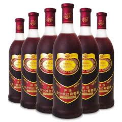 新疆特产伊珠全汁桃红葡萄酒8度720ml红酒甜酒 6瓶整箱