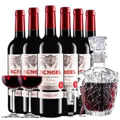 法国原瓶进口红酒柏翠莫埃尔酒堡干红葡萄酒红酒整箱醒酒器装 750ml*6