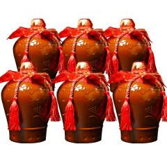 【下单赠礼袋*3只】绍兴黄酒九年糯米花雕老酒半甜型加饭米酒整箱1.5L*6坛装送礼自饮包邮