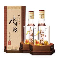 【真品保障】水井坊井台2瓶装52度500ml白酒礼盒纯粮食酒特价