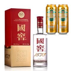 52° 国窖1573 375ml+德国狮虎争霸比尔森啤酒500ml*2