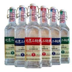 北京二锅头 华都白酒 清香型出口型国际方瓶42度450ml*6瓶 混合瓶身礼盒装
