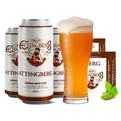 【到手48听】德国原浆啤酒整箱买一箱送一箱24瓶*500ml白啤