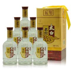 52°陕西太白酒五年老窖兼香型白酒500ml*6(2009年)