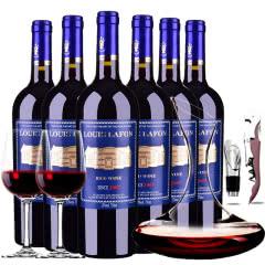路易拉菲侯爵古堡干红葡萄酒750ml(6瓶送醒酒器装)