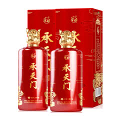 【酒厂直营】53° 华都 承天门(盈福金猪)生肖纪念酒 酱香型白酒 500ml*2