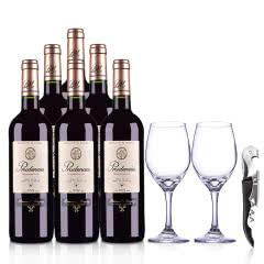 西班牙普鲁登西亚干红葡萄酒750ml (整箱装) +精美酒具套装