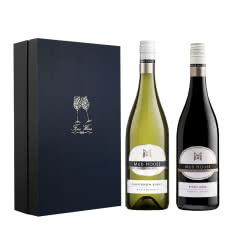 泥房子红白葡萄酒礼盒装750ml 2支装