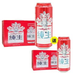 百威瓦丁格纯生啤酒 500ml(12听装)