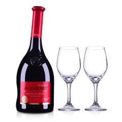 法国香奈半甜红葡萄酒750ml+精美红酒杯