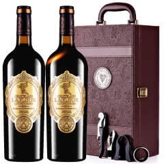法国进口红酒拉斐天使庄园干红葡萄酒双支礼盒装750ml*2