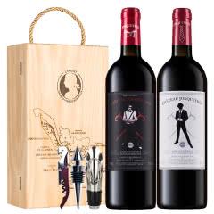 拉蒙 荣歌酒庄 波尔多AOC级 法国原瓶进口 干红葡萄酒750ml*2双支装