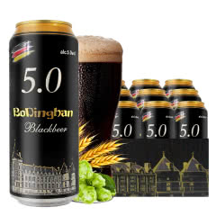 德国风味啤酒 黑啤 精酿醇香 焦香浓郁500ml*12罐