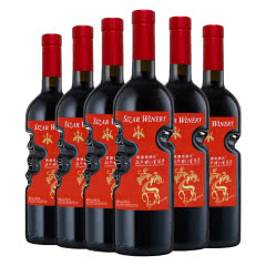 天使之手艺术瓶 上帝之手高颜值红酒低度朗琴甜红 葡萄酒750ml*6瓶整箱装