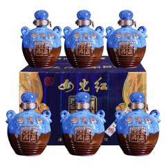 绍兴黄酒女儿红年份花雕酒蓝色经典精品窖藏500*6 整箱加饭糯米酒