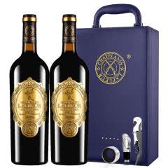 法国进口红酒拉斐天使庄园干红葡萄酒双支红酒礼盒装750ml*2